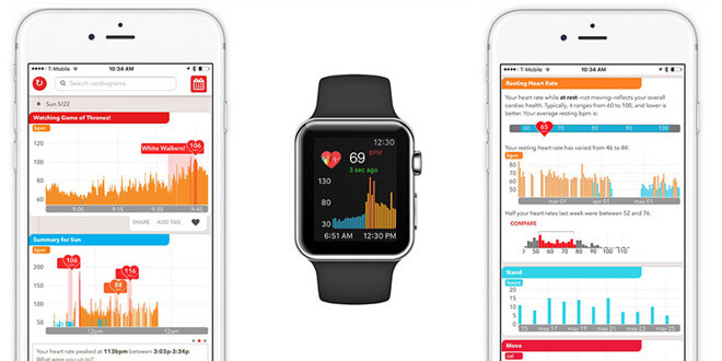 Apple Watch heart rate app