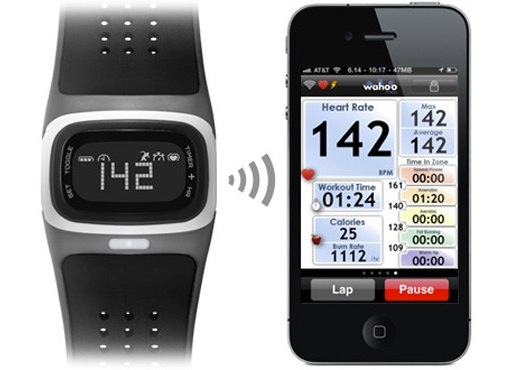 wristwatch with heart rate monitor
