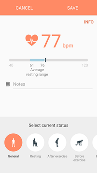 heart rate monitor galaxy s7 display