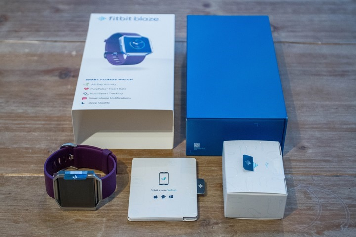review fitbit blaze box content