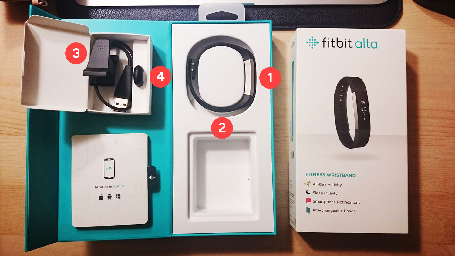 fitbit alta review pros and cons box content